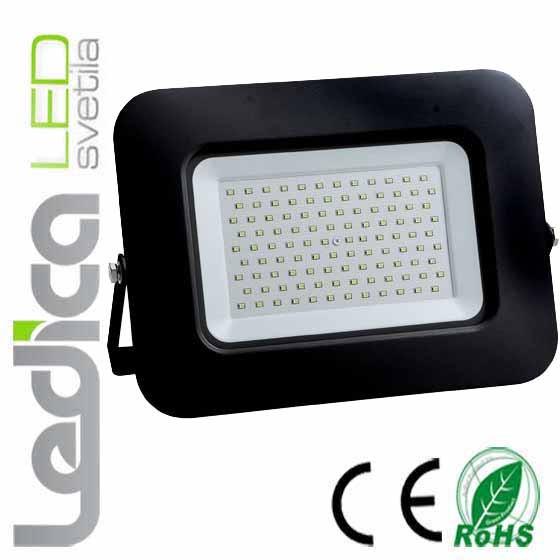 Reflektor črni 100W IP65