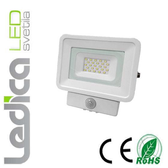 20W led reflektor s senzorjem beli