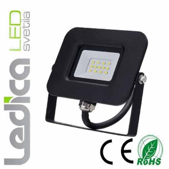 Reflektor 10w črni IP65