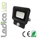 Reflektor 10W s senzorjem - Črni