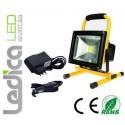 Baterijski LED reflektor 20W