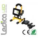 Baterijski LED reflektor 10W