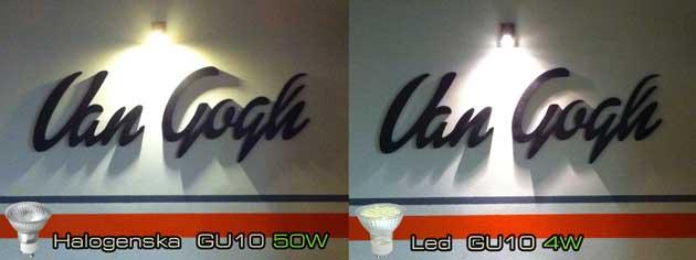 Primerjava žarnic GU10 led vs halogenska GU10