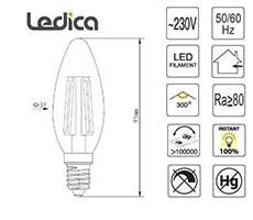 Led specifikacije žarnice