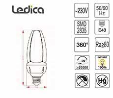 Led specifikacije žarnice